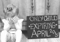 Cute idea for a second child announcememt.