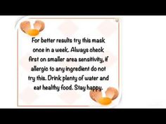 This mask helps to eliminate dandruff and also helps to moisturize hairs and helps to grow hairs. Hair Mask For Dandruff, Egg Hair Mask, Moisturize Hair, Stay Happy, Aloe Vera Gel, Grow Hair, Healthy Foods To Eat, Hair Care, Moisturizer
