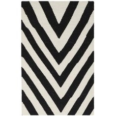 Found it at AllModern - Dhurries Black/Ivory Area Rug