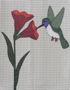 Hummingbird Applique Pattern by The Wooden Bear at KayeWood.com