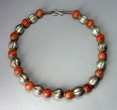 Old silver beads and old carnelian beads by ethnicadornment, €360.00