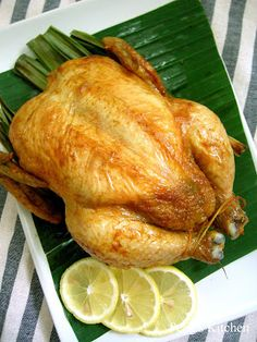 Roasted Pandan Curry Roasted Chicken to Try next Lamb Recipes, Fish Recipes, Asian Recipes, Chicken Recipes, Roast Chicken, How To Cook Chicken, Taiwanese Cuisine, Pinoy Food, Dinner Dishes