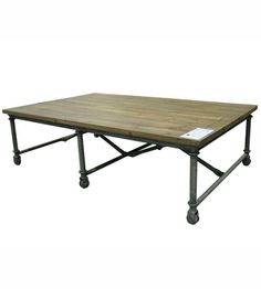 """""""Louis XV"""" LOFT Reclaimed Timber Industrial Rectangular Coffee Table - Antique Soap"""