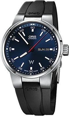 959757959 The Oris Williams collection features motor sport watches. This model  features a day-date window at 3 o'clock with instantaneous date correction.