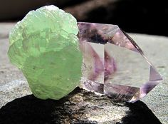 Enhydro amethyst with Prehnite / Mineral Friends <3