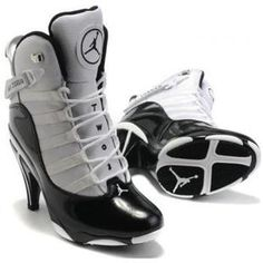 91f993b34e73 Air Jordan 6 Retro High Heels in White Black Jordan Heels
