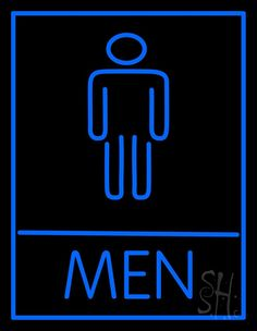 Men Restroom Bar Neon Sign 31 Tall x 24 Wide x 3 Deep, is 100% Handcrafted with Real Glass Tube Neon Sign. !!! Made in USA !!!  Colors on the sign are Blue. Men Restroom Bar Neon Sign is high impact, eye catching, real glass tube neon sign. This characteristic glow can attract customers like nothing else, virtually burning your identity into the minds of potential and future customers. Men Restroom Bar Neon Sign can be left on 24 hours a day, seven days a week, 365 days a year...for decades…