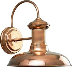 Brookside Collection Copper 1 Light Wall Lantern