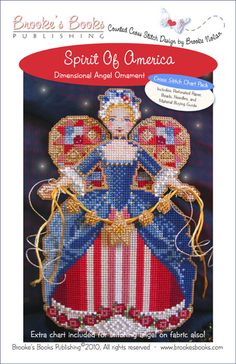 Spirit of America Angel Ornament Chart Pack   $13.00 - Includes Shipping  Includes: Antique Brown perforated paper, Mill Hill seed beads, tapestry & beading needles and chart with instructions.