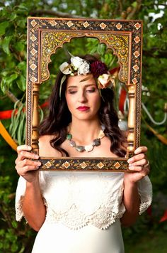 """""""Bohemian Opulence"""" photoshoot by photographic duo Jessie & Emily of Paper & Primrose featuring Daughters of Simone wedding dress stocked @Heart Aflutter Bridal in #Hackney #London. Visit: http://heartaflutterbridal.co.uk/"""