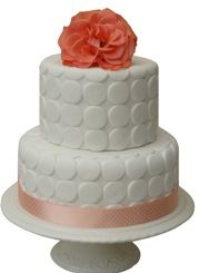 Polka Dot 2 tier Wedding Cake - £150