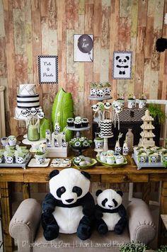 Dessert table from a Panda Lover Birthday Party on Kara's Party Ideas | KarasPartyIdeas.com (21)