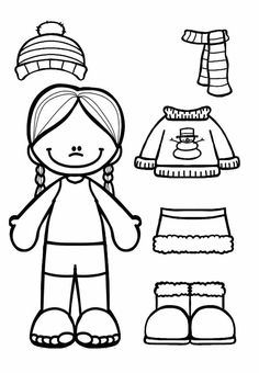 free color cut and paste the winter clothes onto the girl and boy winter clothes. Black Bedroom Furniture Sets. Home Design Ideas