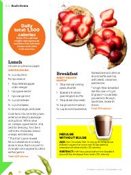 "I saw this in ""Your Flat-Belly Day"" in Women's Health December 2013."