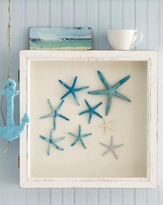 framed blue starfish via Crush Cul de Sac