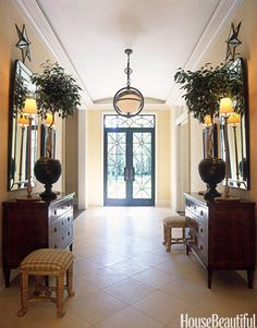 Decorating Foyers with Furniture and Color - Entryway Ideas and Designs - House Beautiful