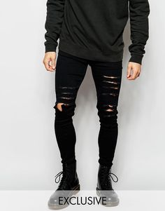 Reclaimed Vintage | Reclaimed Vintage Super Skinny Jeans With Extreme Distressing at ASOS