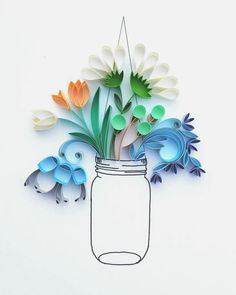 Quilling bouquet by Meloney Celliers