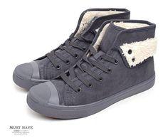 Slazenger Unisex Men & Womens Fur Warm Canvas Slip on Sneakers Casual Shoes #Slazenger #CasualShoes
