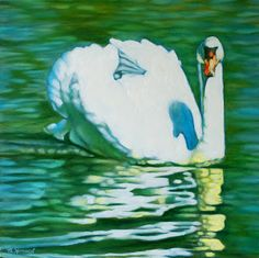 Margaret Horvat's a little daily painting: Swan III