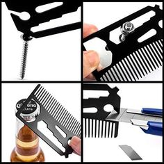 Comb, Bottle Opener, Wrench, Screw Driver, Knife Blade breakaway Fits in Your Wallet Material: Metal Size: