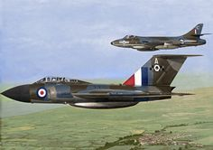 colourised Gloster Javelin & Hawker Hunter