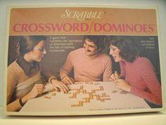 Scrabble Crossword Dominoes // 1970s Vintage Board Game // Etsy // LoveVintageAlways