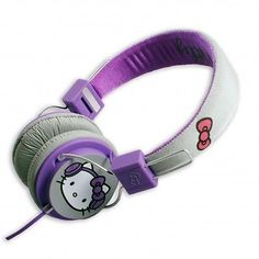 #Hello kitty on ear #childrens kids #headphones grey and pink new,  View more on the LINK: http://www.zeppy.io/product/gb/2/191373967142/