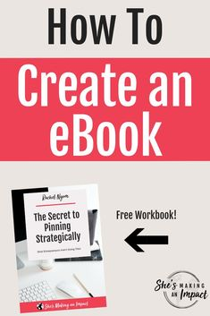 Want to learn how to create an eBook? eBooks are a great way to add value to your ideal client in a simplified format. People truly do value simplicity and by putting it all in an easy to read format, you're saving them tons of time and energy E-mail Marketing, Marketing Digital, Content Marketing, Online Marketing, Affiliate Marketing, Business Marketing, Make Money Blogging, How To Make Money, Business Tips