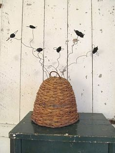 wire bees by Sassy Trash Farm Day, Bee Swarm, I Love Bees, Bee House, Bee Skep, Garden Items, Bee Happy, Busy Bee, Bees Knees