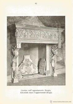 VATICAN.  Fireplace in the Borgia Apartments