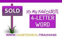 'Sold is my favourite 4-letter word' #Immoversity #startjouwmotor #vastgoedtraining www.vastgoed.training