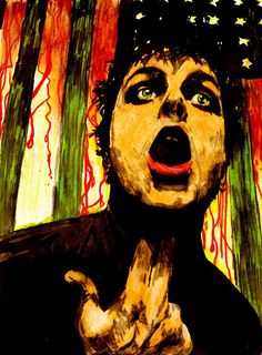 """Billie Joe Armstrong painting """"A new kind of tension"""""""