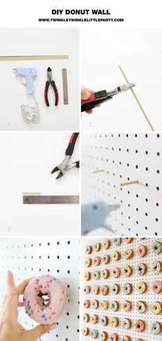 DIY Donut Wall step-by-step tutorial for your next donut the.- DIY Donut Wall step-by-step tutorial for your next donut theme party DIY DONUT WALL - Donut Party, Donut Birthday Parties, Birthday Diy, Grad Parties, Birthday Party Themes, Party Party, Party Ideas, Birthday Ideas, Themed Parties