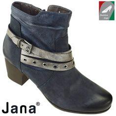 Jana női bőr bokacsizma 8-25330-29 805 kék 2cafd17d22