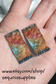 Set of cooper laminate  for earrings of by sequoiasupplies on Etsy