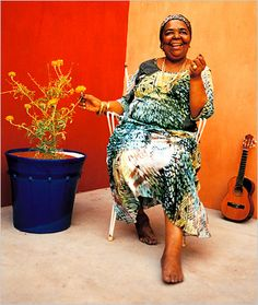 """Cesária Évora, 27 August 1941 – 17 December 2011) was a Cape Verdean popular singer. Nicknamed the """"Barefoot Diva"""" for performing without shoes."""