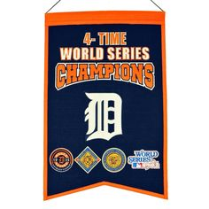MLB Baseball Detroit Tigers 14x22 Heavy Wool with Embroidery Sport Team Logo 4 Time World Series Champions Banner #2010 -- Awesome products selected by Anna Churchill