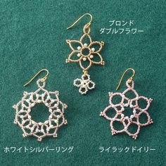 Scale 'em up for ornaments seed beads lace motif earrings