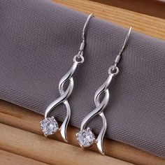 GSSPE182 wholesale, silver stars earrings,with crystal hight quality,fashion/classic jewelry, free,factory price