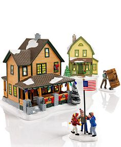 department 56 collectible figurines a christmas story village collection holiday decor holiday lane macys - A Christmas Story Village