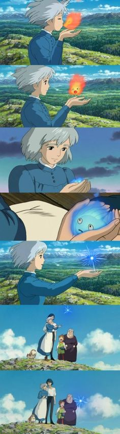 Sophie and Calcifer  Howl´s Moving Castle