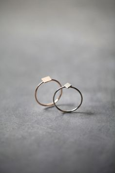 Minimal Rings with dainty geometric design; simplicity; minimal jewellery