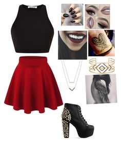 """""""Untitled #90"""" by luisa-raquel on Polyvore featuring Rosie Assoulin, Michael Kors, Stella & Dot and Jeffrey Campbell"""