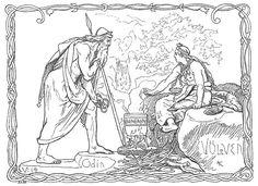 Odin og Völven by Frølich - Völuspá - Wikipedia, the free encyclopedia