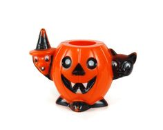 Rosbro Halloween Witch Black Cat Pumpkin Candy by GizmoandHooHa