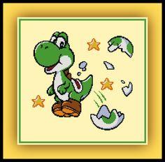Free Yoshi Cross Stitch Pattern Mario World Yoshi's Island