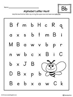 alphabet letter hunt letter b worksheet pallet alphabet**free** alphabet letter hunt letter b worksheet worksheet the letter b alphabet letter hunt is a fun activity that helps students practice recognizing the