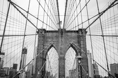 Brooklyn Bridge - New York Photography - Photo of the Brooklyn Bridge - Black & White Photography - Brooklyn Bridge Art - NYC Photos