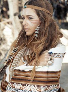 beautiful, bohemian, boho, girl, indian